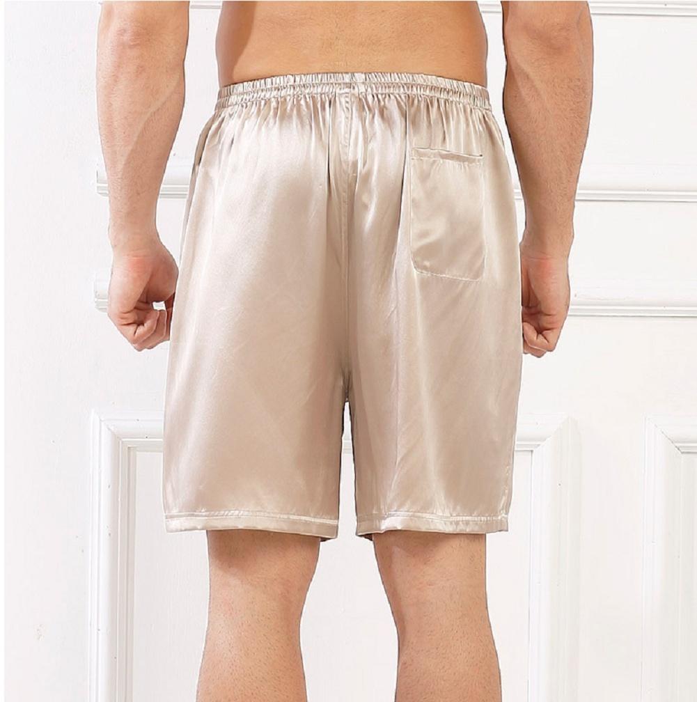 Wantschun Men/'s Sleepwear Satin Silk Underwear Boxers Shorts Nightwear Pyjamas Bottom Pants