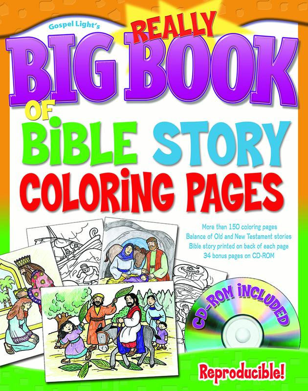 Big Books: The Really Big Book Of Bible Story Coloring Pages (with CD-ROM)  (Other) - Walmart.com - Walmart.com