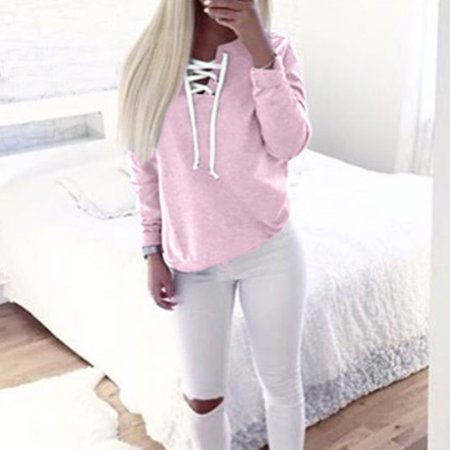 Polyester Leisure Suit (Leisure Pullover Tops for Women, Fashion Women Hoodie Sweatshirts Long Sleeve Casual Blouse, Pink Blouse Jumper Coat ,)