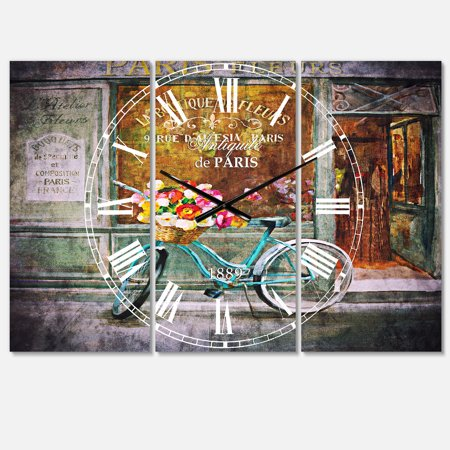 DesignArt Paris French Flowershop Large Wall Clock - image 2 de 2