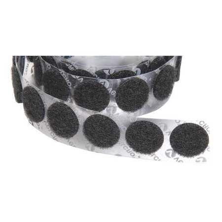 "VELCRO BRAND 1/2"" Dia. Loop Black Adhesive Dots, 1440 pk., 192253"