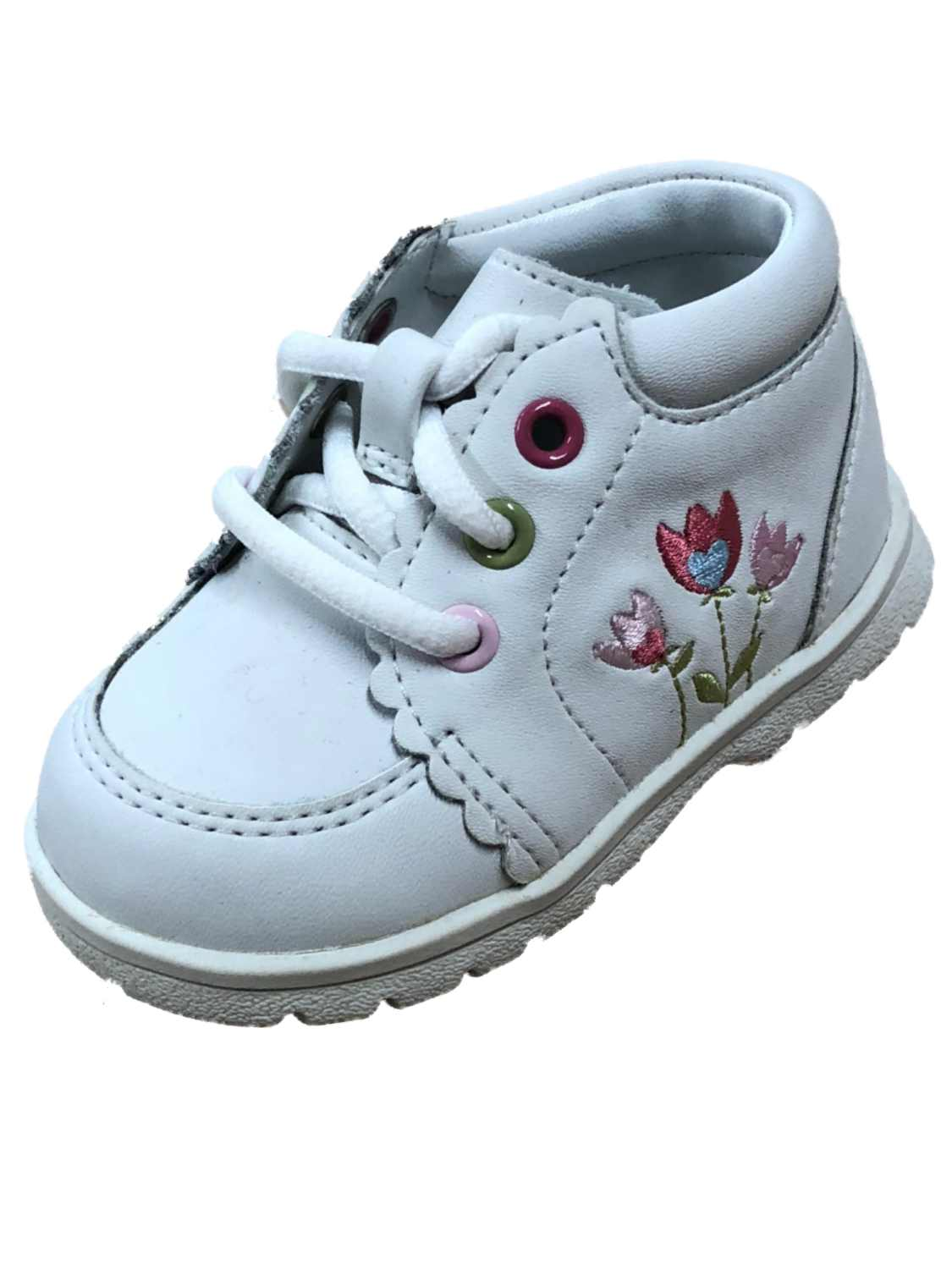 Baby Smart Infant Girls White Leather