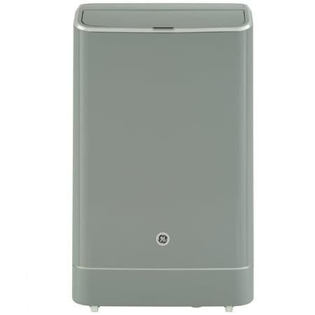 GE 10,500 BTU (14,000 BTU Ashrae) Smart Portable Air Conditioner with Dehumidifier and Remote, Grey