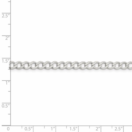 925 Sterling Silver 4.5mm Flat Link Curb Chain Necklace 20 Inch Pendant Charm Fine Jewelry Gifts For Women For Her - image 4 de 9