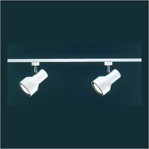 Thomas Lighting Two Small White Continental Two Head Track Light Kit