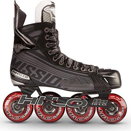 Mission Inhaler DS:5 Senior Inline Hockey Skates, 12.0 E by