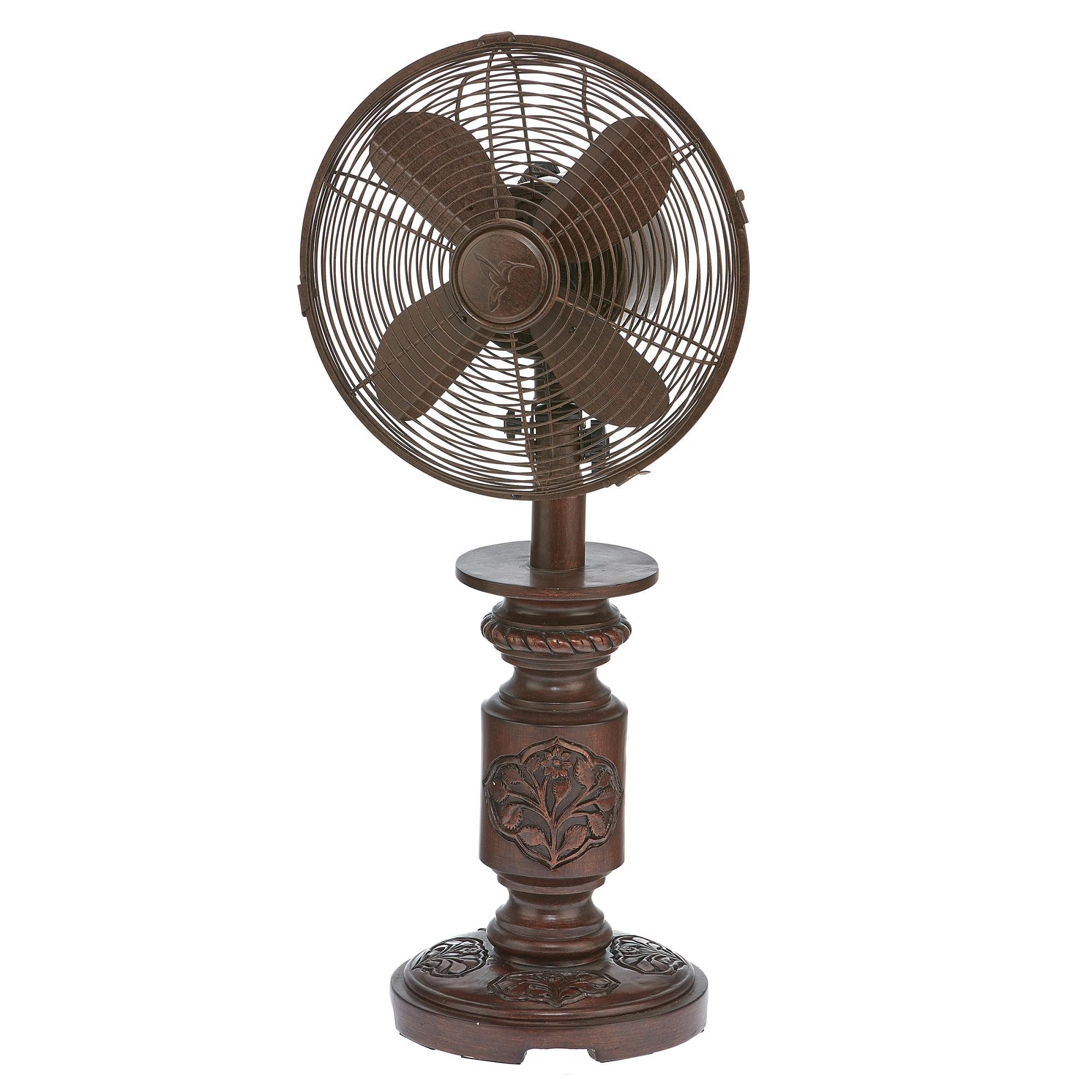 "25"" Bronze Antique Finish Mila Table Fan"