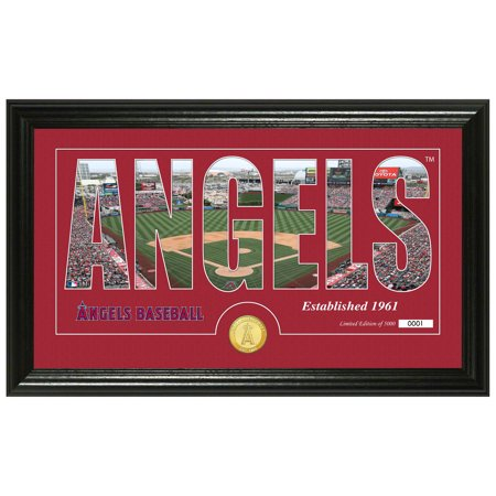 "Los Angeles Angels Highland Mint 12"" x 20"" Silhouette Panoramic Stadium Photo Mint - No Size"