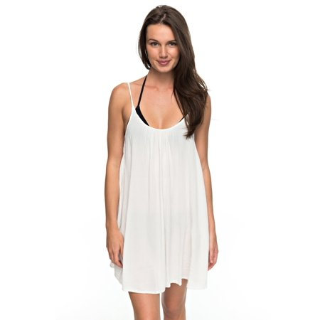 Roxy Womens Windy Fly Away Cover Up Dress - Marshmellow White