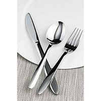 Winco Elite 3 Dozen Flatware Set, 18-0 Stainless Steel Classic Old-Fashioned Dinner Spoons (Dozen Pack), Dinner Forks (Dozen Pack) and Dinner Knives (Dozen Pack), 36-Piece Set