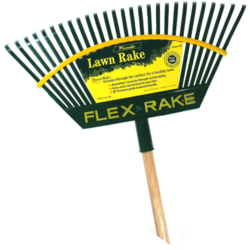 Flexrake 2W 21 in Lehan Action Poly Head Lawn Rake