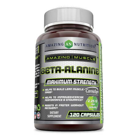 Amazing Nutrition Amazing Muscle 100% Pure Beta Alanine - Ideal Pre & Post Workout Supplement - Unflavored - Easy to Mix - 2 Grams Per Serving - Bulk Supply With 250 Servings Per