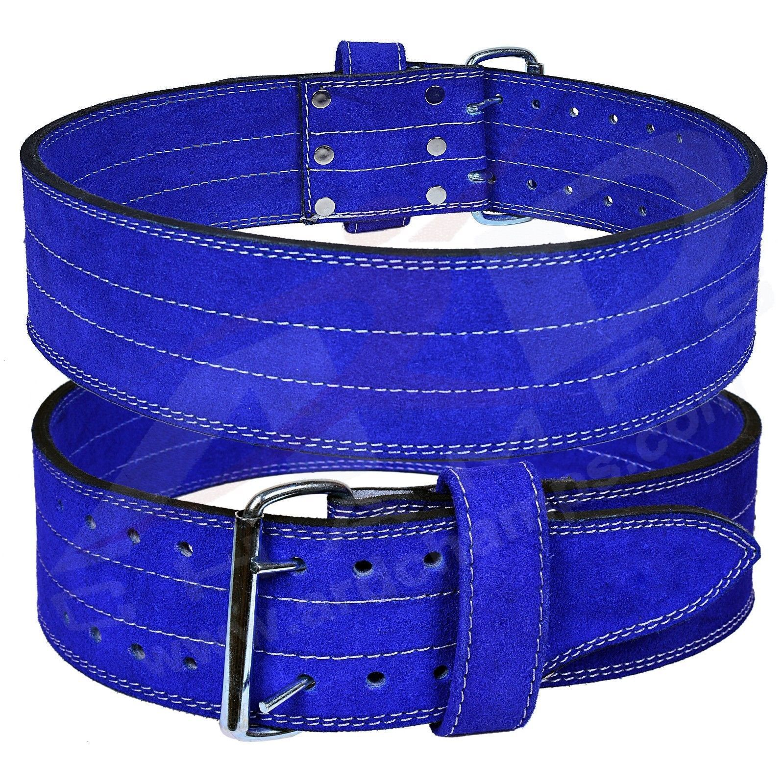 ARD Genuine Leather Power Heavy Duty Weight Lifting Body building Belt Blue Small