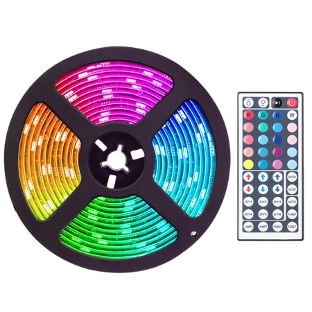 - TSV 16.4Ft 300 LED RGB Muliti Color Bias Lighting Changing RGB LED TV Backlight with 44 Key IR Remote Control For TV HDTV Monitor Home Theater Accent lighting Kit