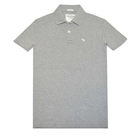 0f67da06 Abercrombie & Fitch - Abercrombie Fitch Men Muscle Fit Moose Logo Polo Shirt  (L, Heather Grey) - Walmart.com
