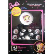 Barbie Solo in the Spotlight Miniature Nostalgic China Tea Set with Plush Collectors Case