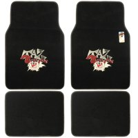Taz Floor Mats for Car, 4-Piece, Universal Fit, Looney Tunes Cartoon Design Auto Accessories