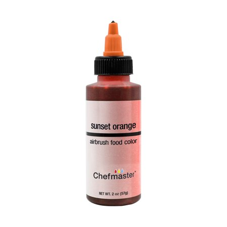 Chefmaster 2-Ounce Sunset Orange Airbrush Cake Decorating Food Color](Make Halloween Orange Food Coloring)