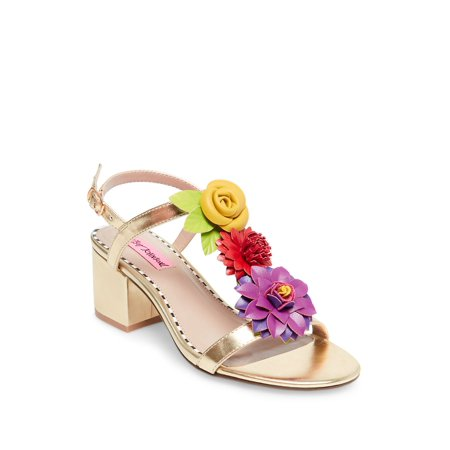 Blue Adde Faux Leather Sandals Gold Multi Leather Footwear
