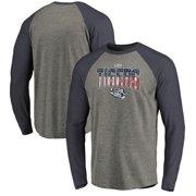 LSU Tigers Fanatics Branded Big & Tall Freedom Tri-Blend Raglan Long Sleeve T-Shirt - Heathered Gray