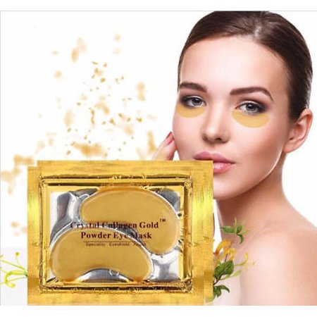 20 pairs Crystal Gold Collagen under Eye Pads Mask Anti Dark Circle Wrinkles