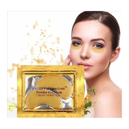 20 pairs Crystal Gold Collagen under Eye Pads Mask Anti Dark Circle Wrinkles (Purederm Collagen Eye)