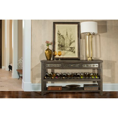 Hilale Bolt Sofa Table With Wine Rack