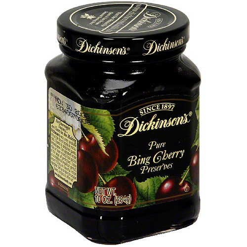 Dickinson's Pure Black Sweet Cherry Preserves, 10 oz (Pack of 6)