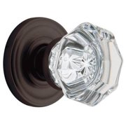 Baldwin 5080.102.PASS Filmore Crystal and Oil-Rubbed Bronze Hall-Closet Knob