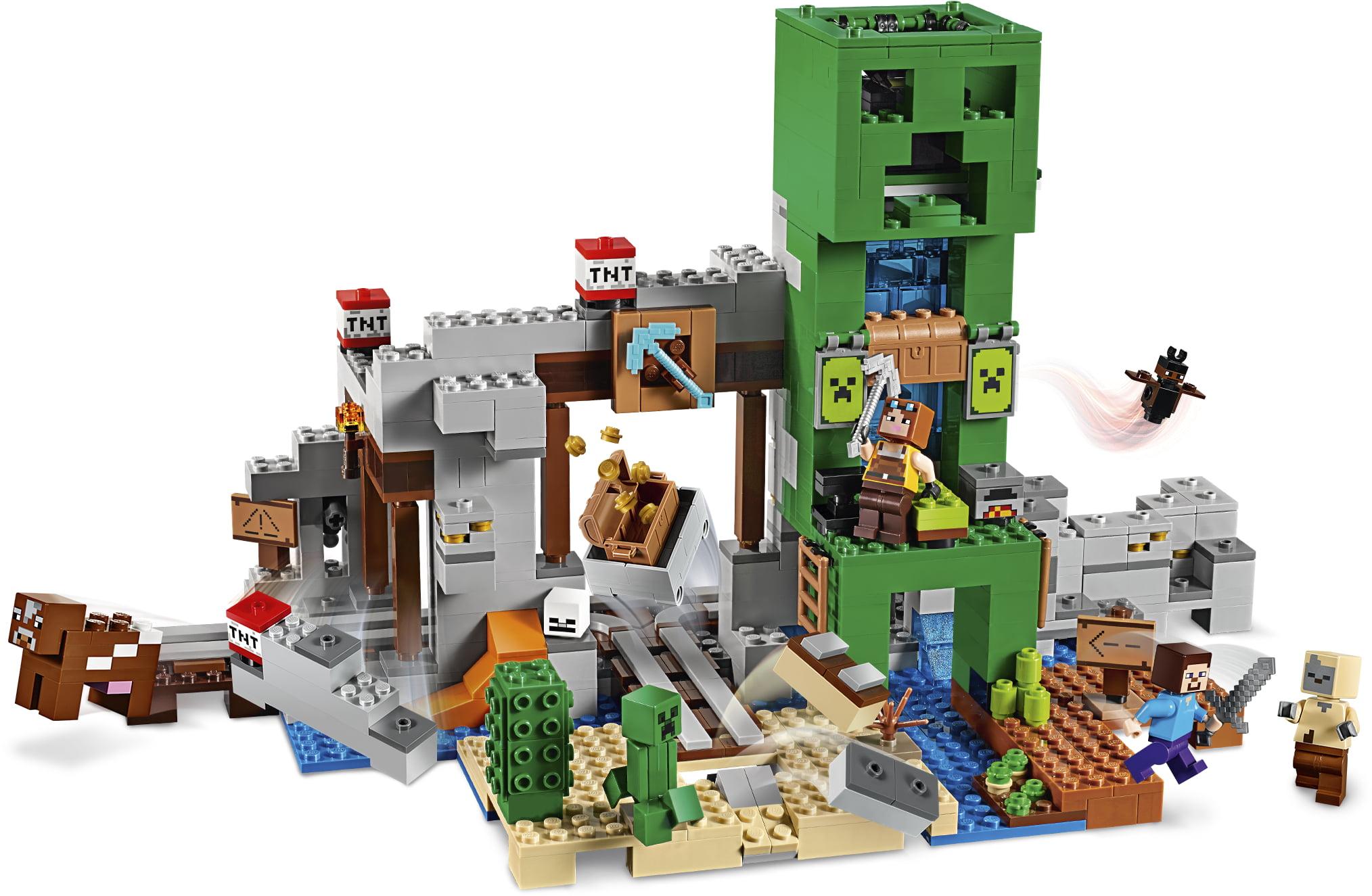 Minecraft The Creeper Mine Compatible Lego My World 21155 Building Brick Kids