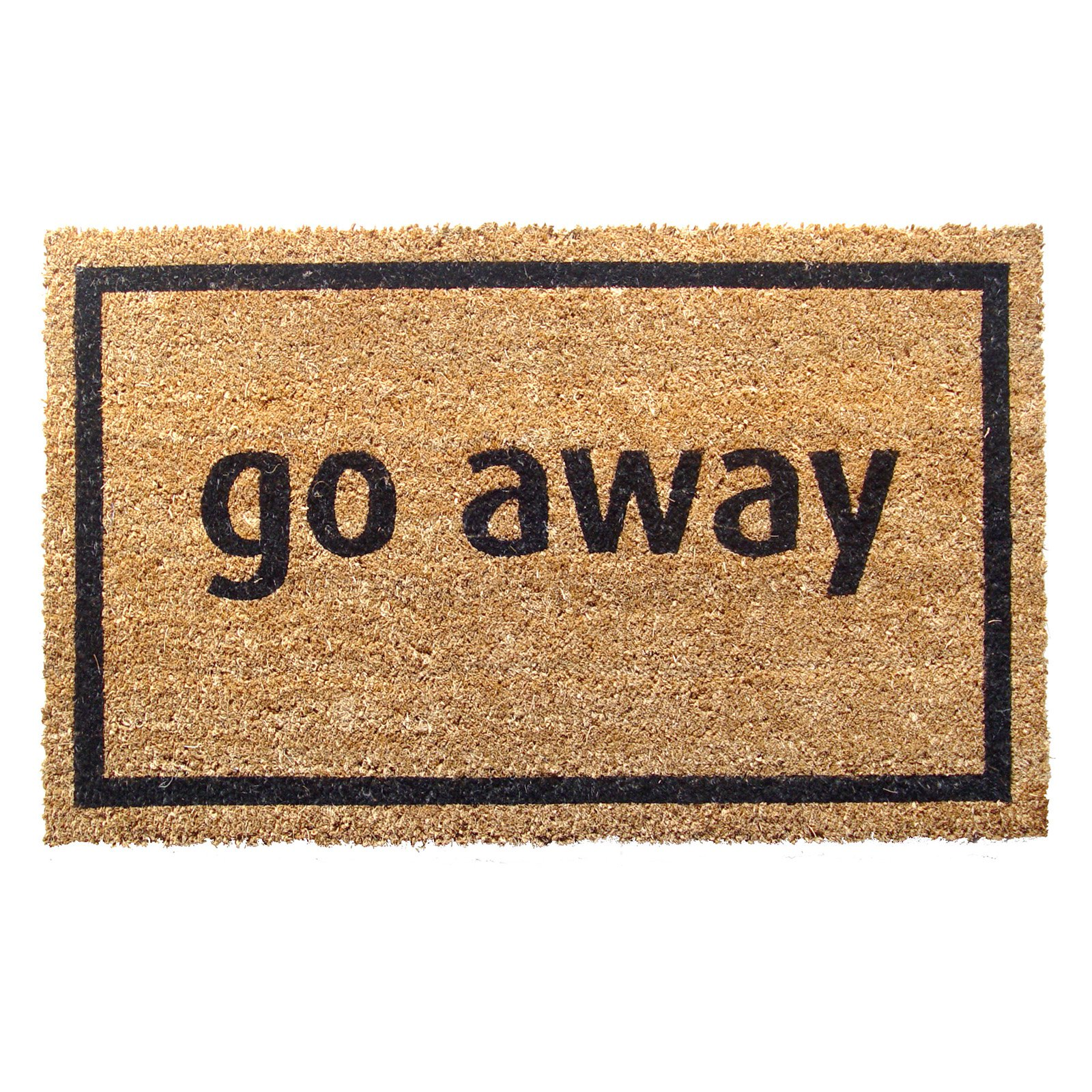 Go Away Nonslip Coir Door Mat