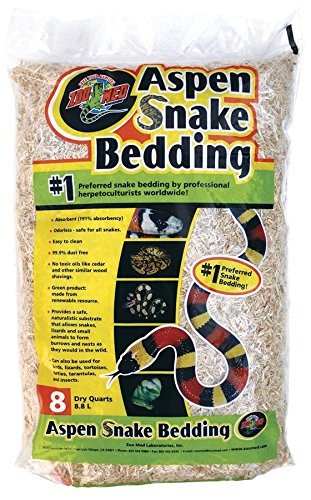 Aspen Snake Bedding, Green product made from a reNewable resource By Zoo Med by