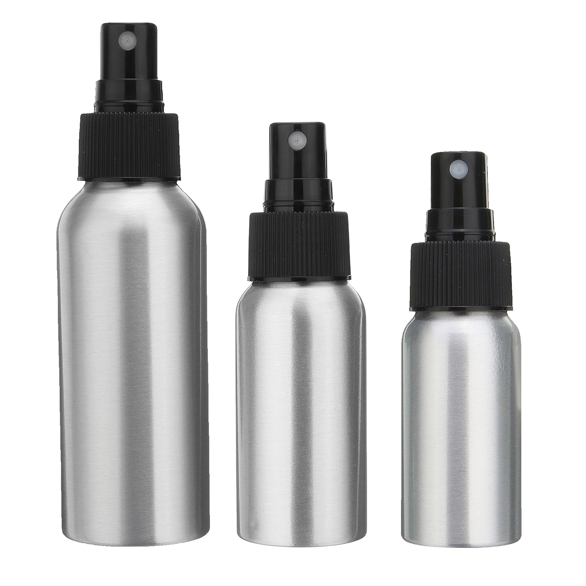 30/50/100ml aluminumbottle Aluminum Mist Spray Bottle Pump Dispenser Perfume Atomizer Atomiser