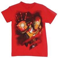 Iron Man (Marvel Comics) Mens T-Shirt  - Hand Up Haulting Pose Image