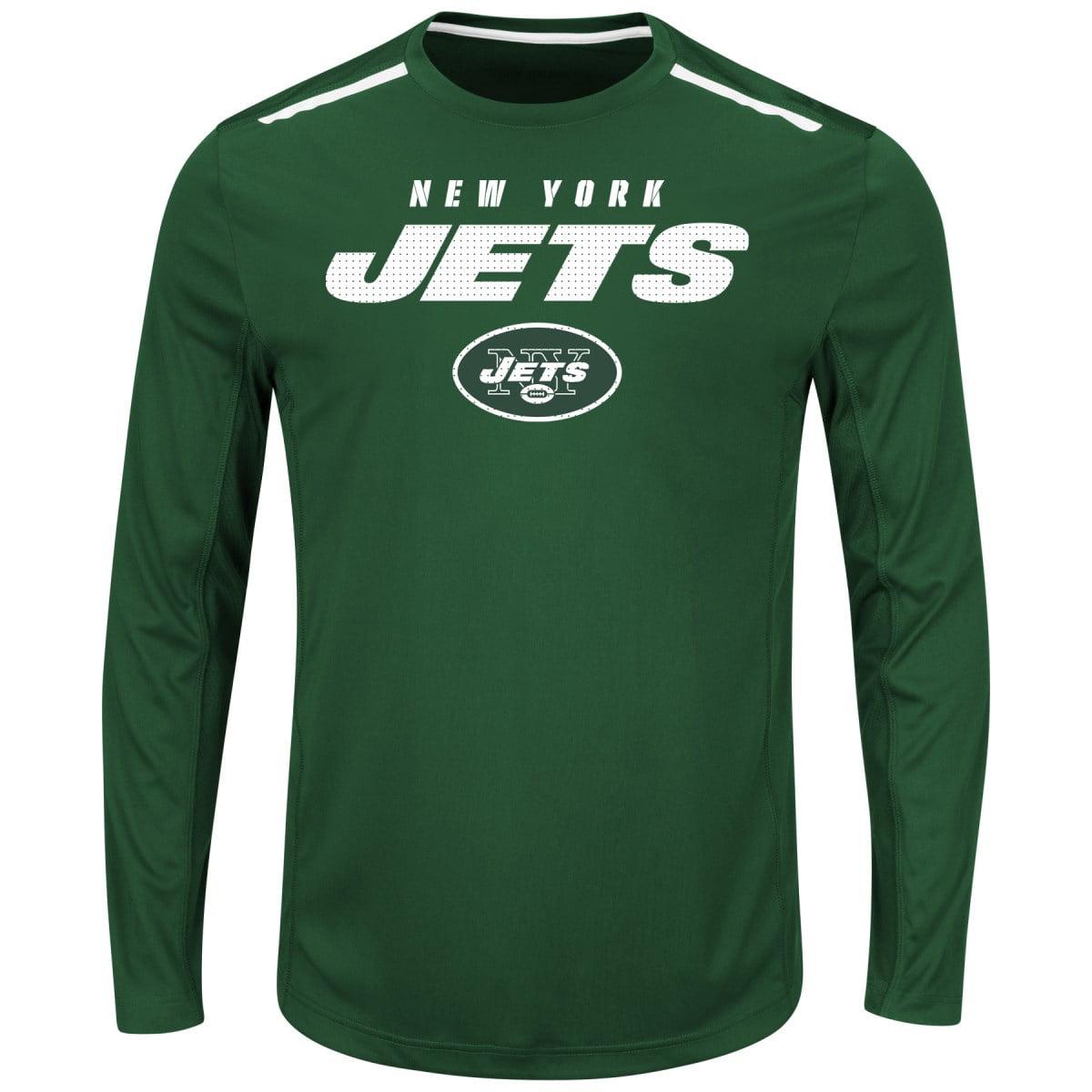 "New York Jets Majestic NFL ""Fanfare IX"" Men's Cool Base L S Shirt by Majestic"