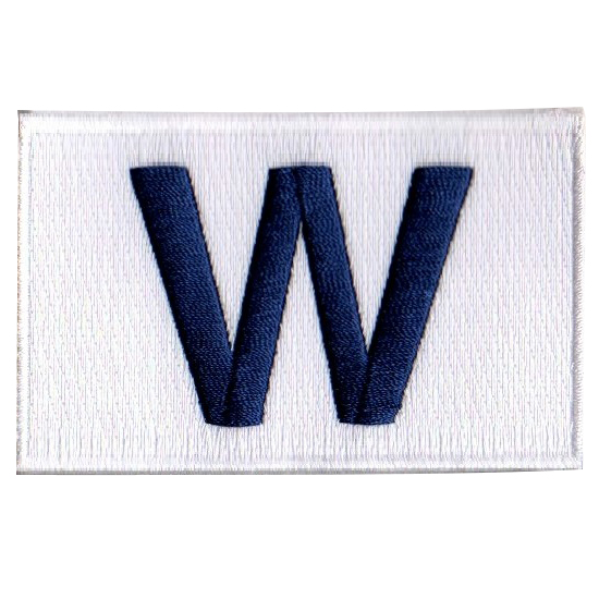 Chicago Cubs W Flag Patch - No Size