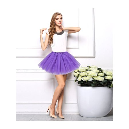 Stretch Tulle Skirt (Tutu for Women Adult Tulle Tutu Ballet Dance Fluffy Skirt Assorted Colors for Nigh Clubs, Party, Cosplay by)