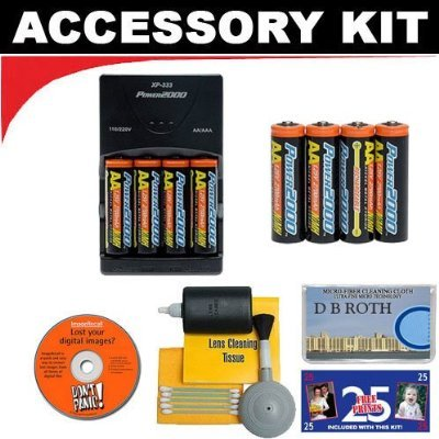 Accessory Kit with Charger & 8 AA Rechargeable Batteries ...