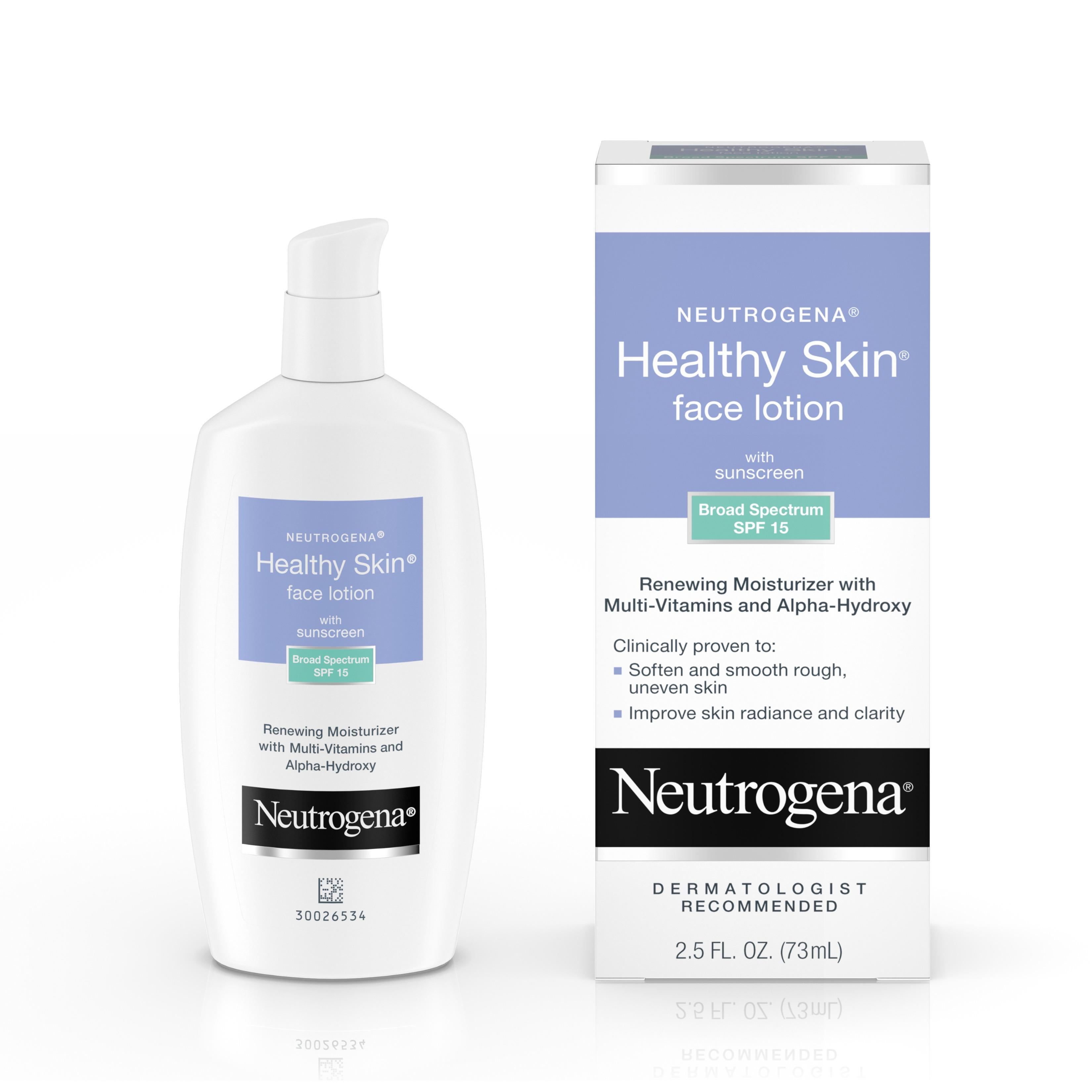 Neutrogena Healthy Skin Face Lotion with Alpha-Hydroxy Acid 2.5 fl. oz