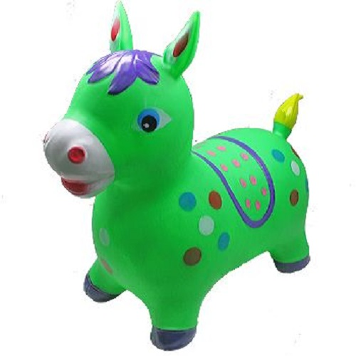 Green Donkey Animal Hoppers Children's Ride On Toy Hopper Bouncy Inflatable Ride-On