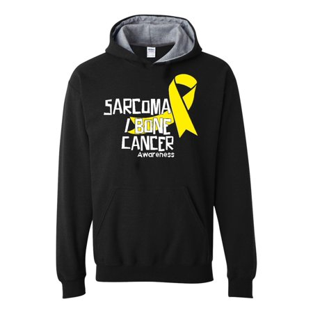 Sarcoma Bone Cancer Awareness Unisex Hoodie Hoodies Contrast Color