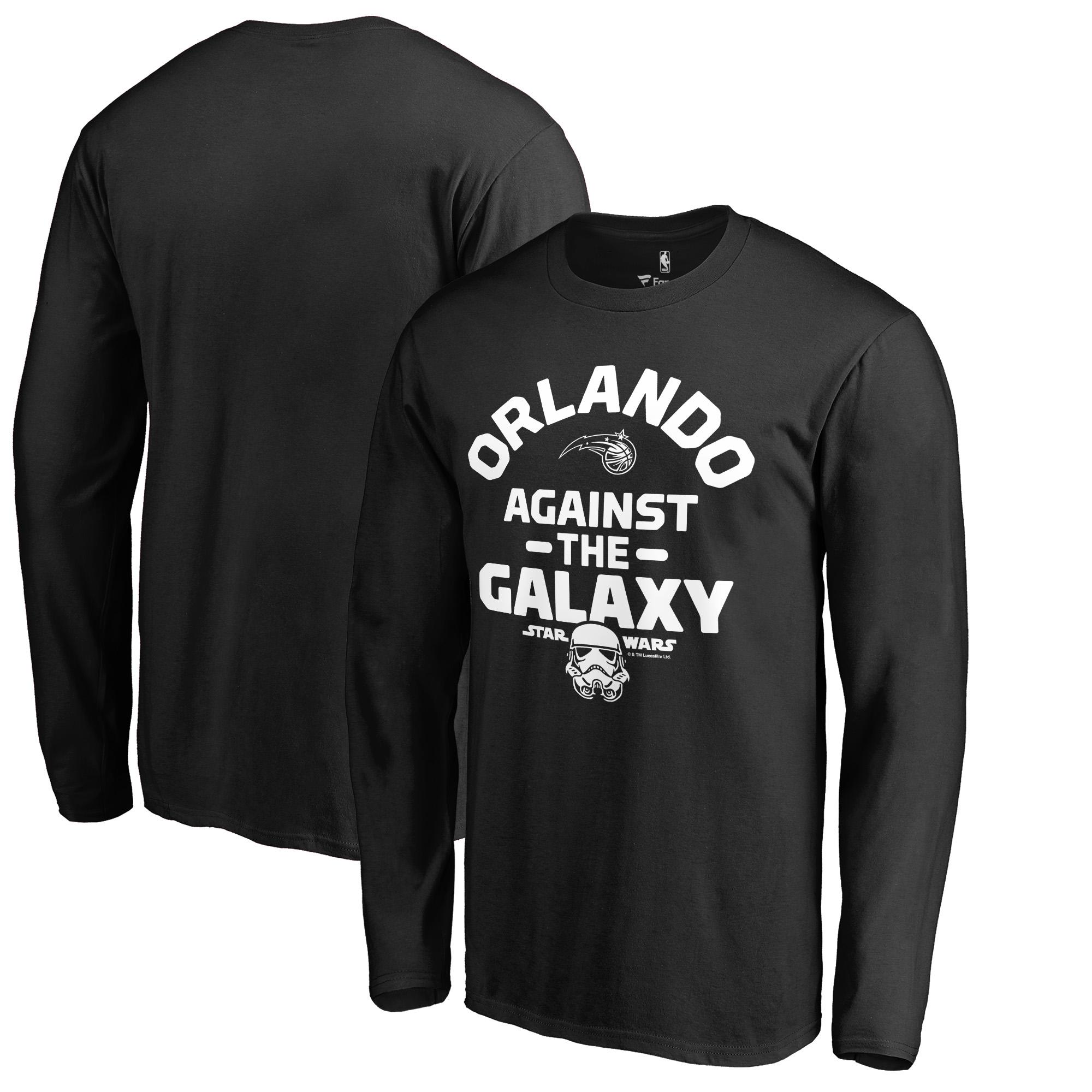 Orlando Magic Fanatics Branded Star Wars Against the Galaxy Long Sleeve T-Shirt - Black