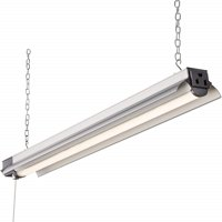 Newhouse Lighting 2' LED Linkable Shop Light - 2200 Lumens - 25W - 4000K - 100W Equivalent - 5 Year Warranty - Pull Chain Switch