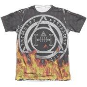 Constantine Flames (Front Back Print) Mens Sublimation Shirt