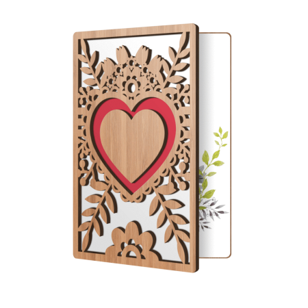 Love Greeting Cards For Him, Or Her: High End Handmade Wooden Card Perfect To Say I Love You, Happy Anniversary, Just Because, Valentine's Day, Even Mother's Day (Best Valentines Cards For Him)