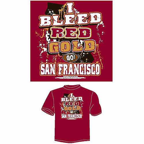 "San Francisco Football ""I Bleed Red and Gold, Go San Francisco"" T-Shirt, Red"