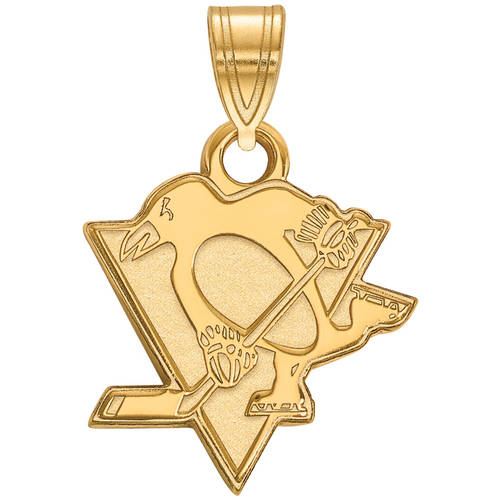 LogoArt NHL Pittsburgh Penguins 14kt Gold-Plated Sterling Silver Small Pendant