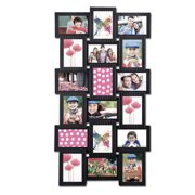 Adeco Trading 18 Opening Plastic Photo Collage Wall Hanging Picture Frame