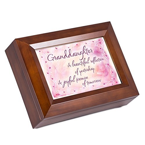 Cottage Garden Beautiful Granddaughter Dark Wood Finish J...