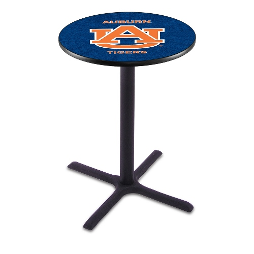 NCAA Pub Table by Holland Bar Stool, Black - Auburn University, 36'' - L211
